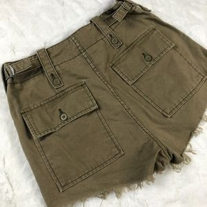 Free People high waisted cargo shorts